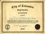 Citation Awarded to Mrs. Katheryn Cobb